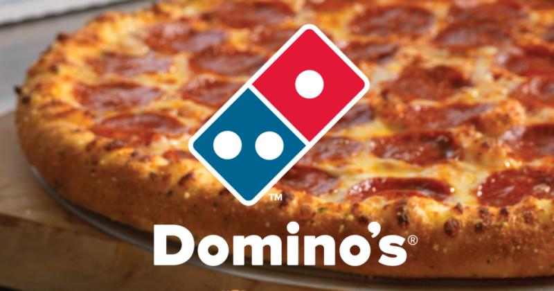 Bestel de lekkere pizza van Domino's super voordelig