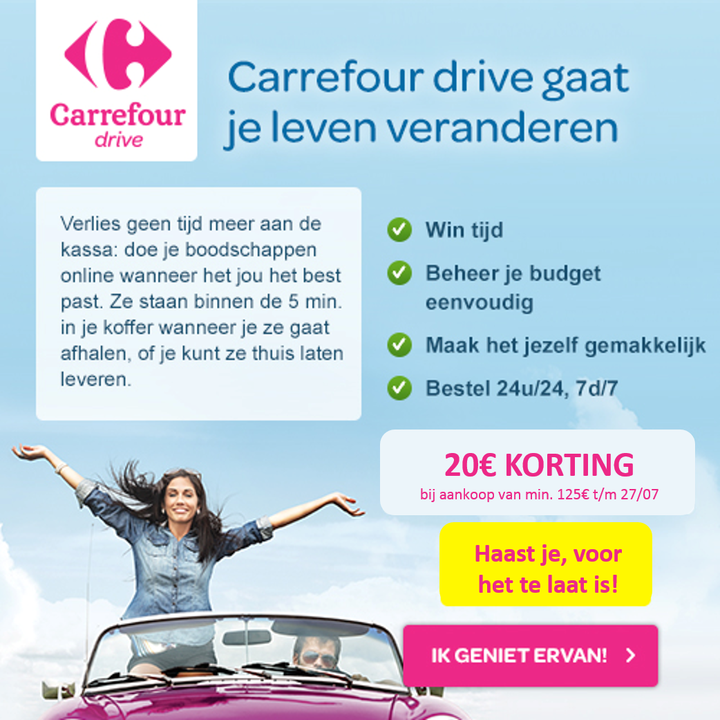 Snel en eenvoudig je boodschappen online doen via Carrefour drive