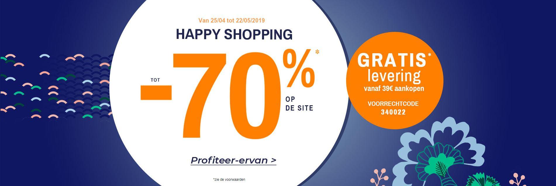Happy Shopping bij Blancheporte: tot 70% korting op de site!