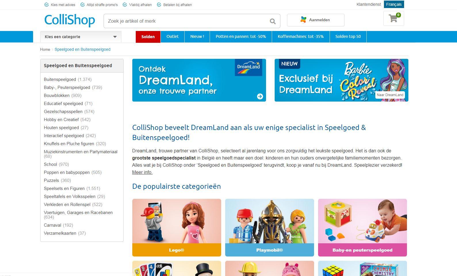 ontdek het aanbod speelgoed van collichop