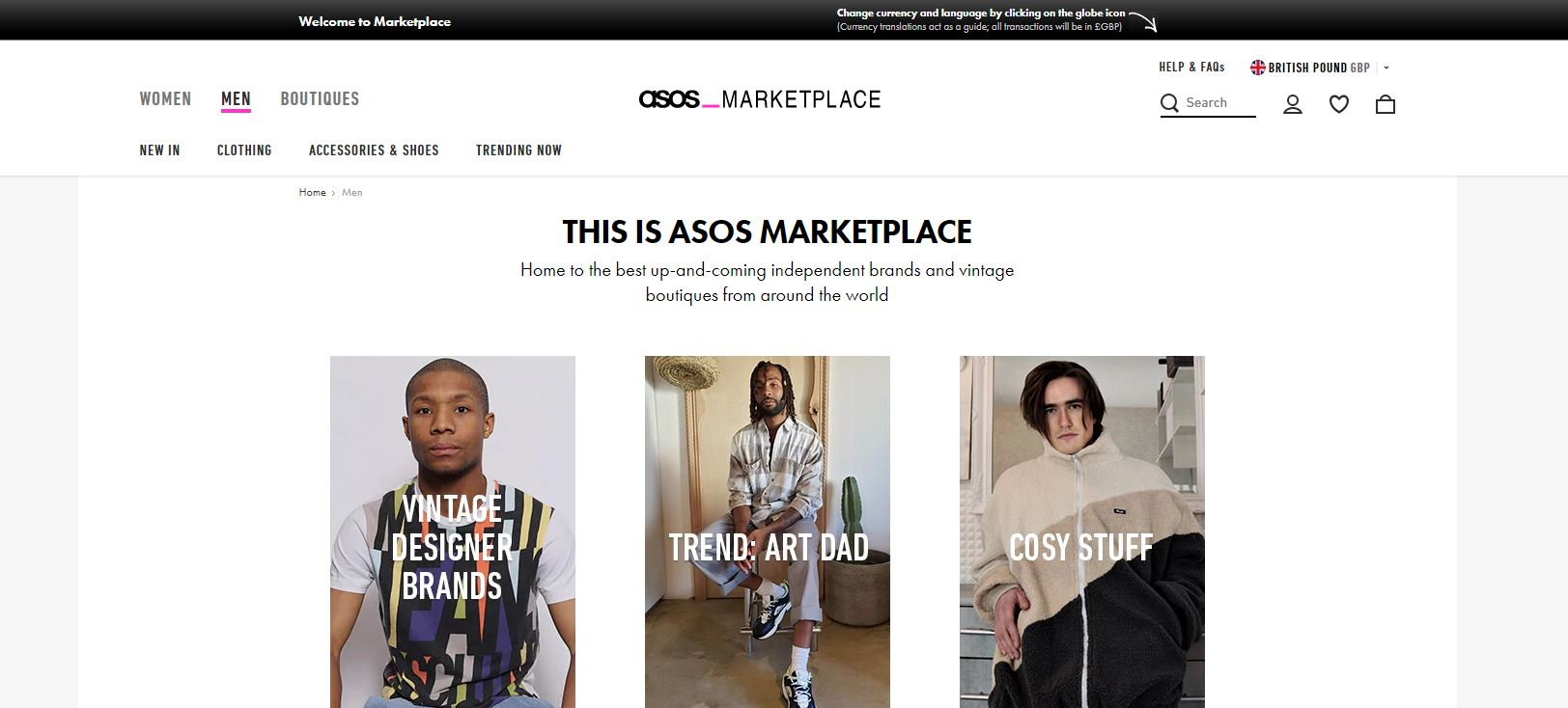 check de marketplace van asoso