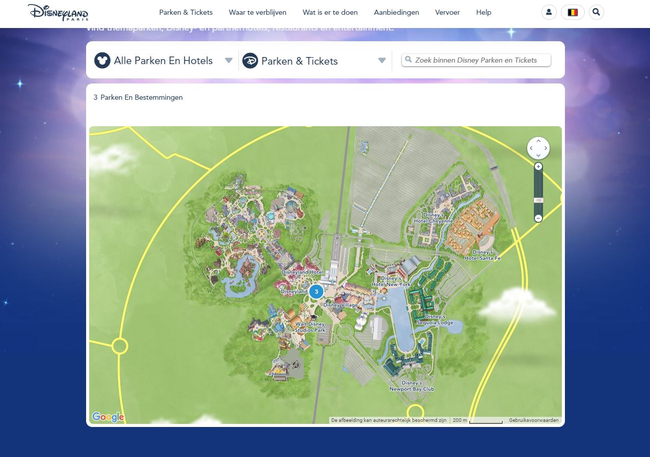 plattegrond disney paris
