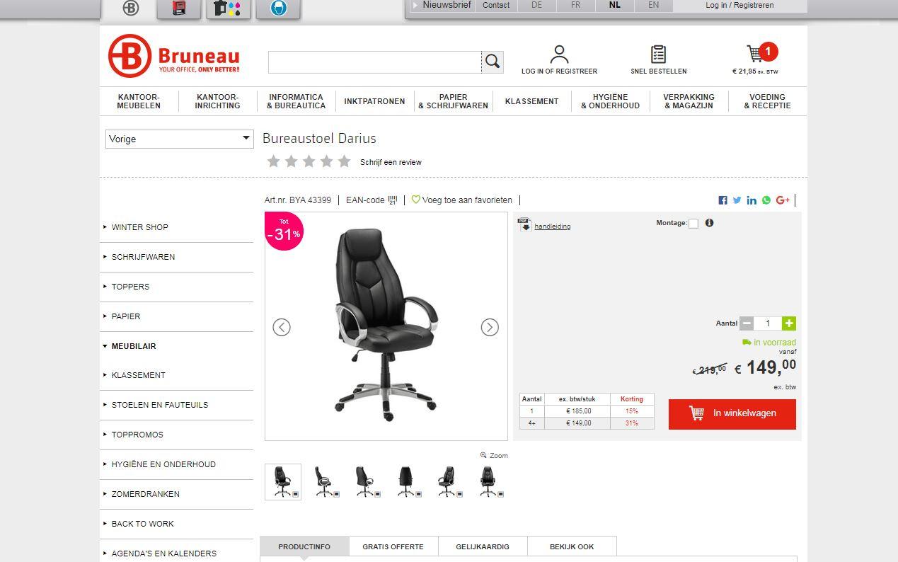 ergonomische bureaustoel brunea