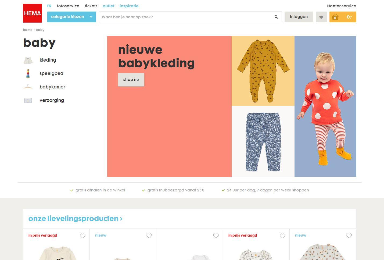 check alle babykleding bij hema;be