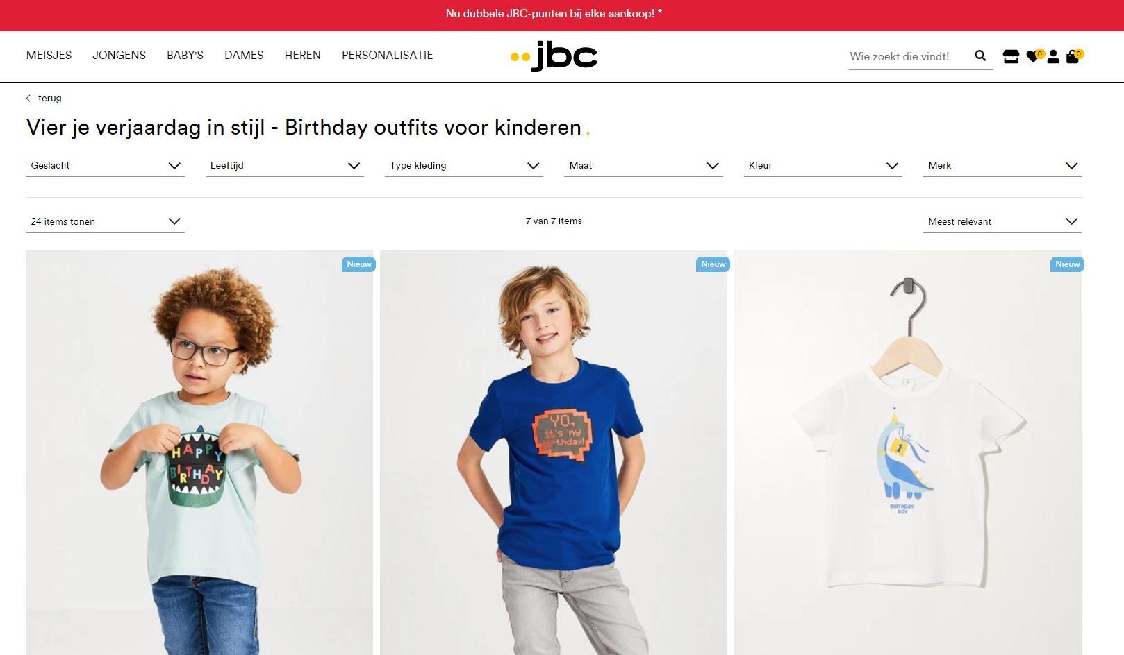 speciale verjaardagafdeling bij jbc belgie
