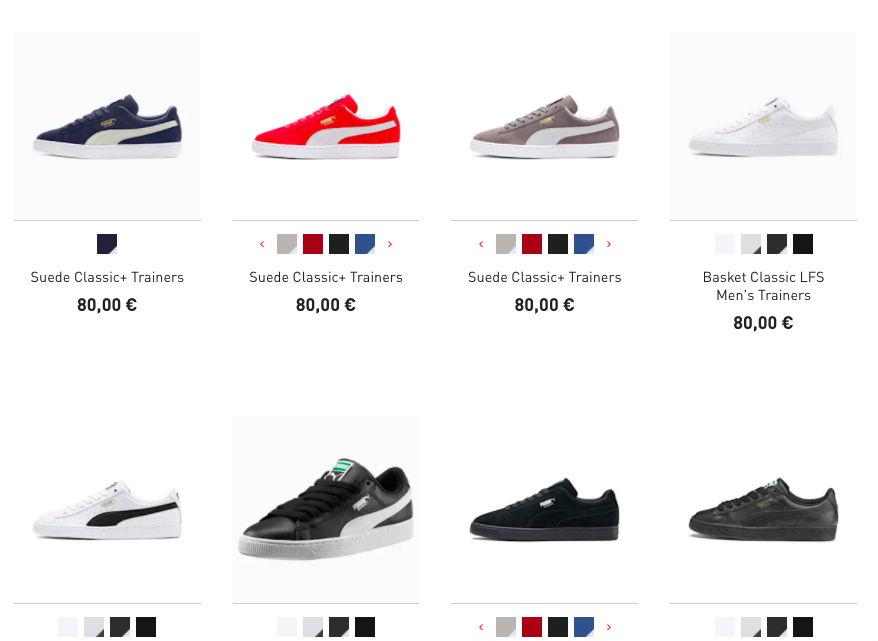 Koop jouw sneakers eenvoudig online in de webshop van PUMA