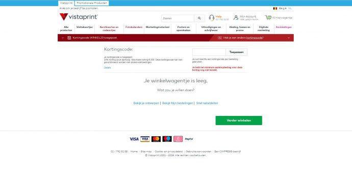 Screenshot Vistaprint
