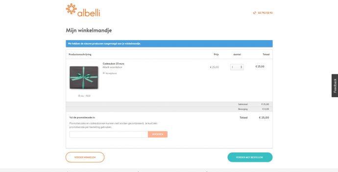 Screenshot Albelli