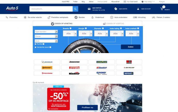 bestel jouw autobanden bij www.auto5