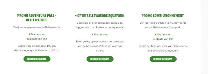 combi attractiepark + aquapark belleward