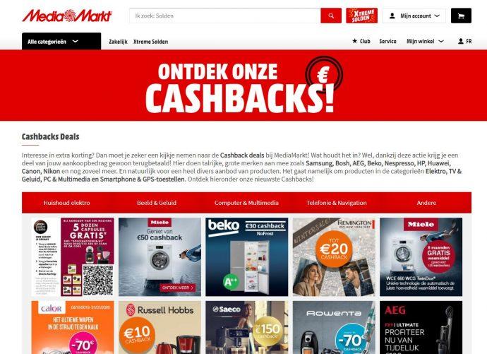 cashback acties media marck