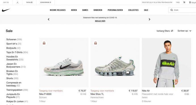 Shop goedkoper in de outlet van Nike