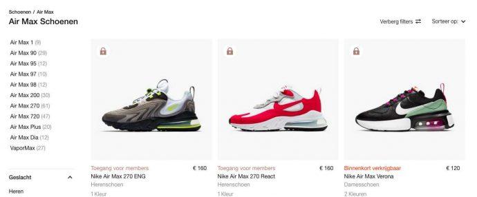 Koop Nike Air Max schoenen met een extra korting