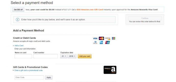 Screenshot Amazon