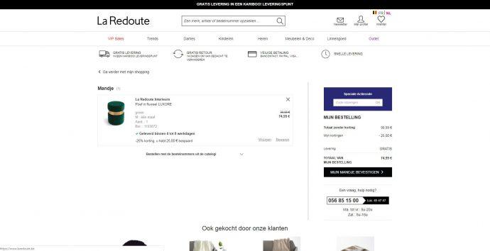 Screenshot La redoute