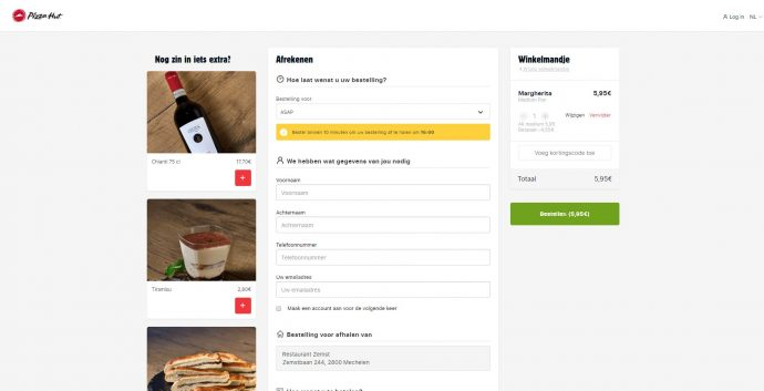 Screenshot Pizza Hut
