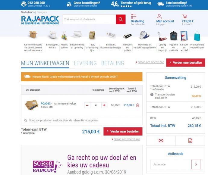 Screenshot Rajapack